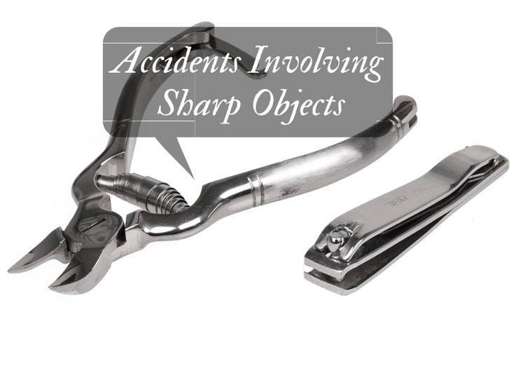 Accidents involving sharp objects